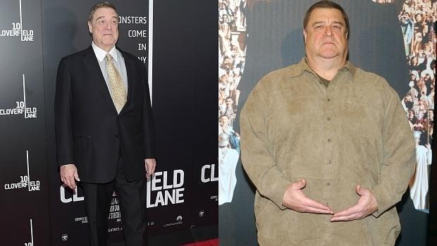 John Goodman pesa ahora 120 kilos (izquierda). Antes pesaba 180 (derecha)