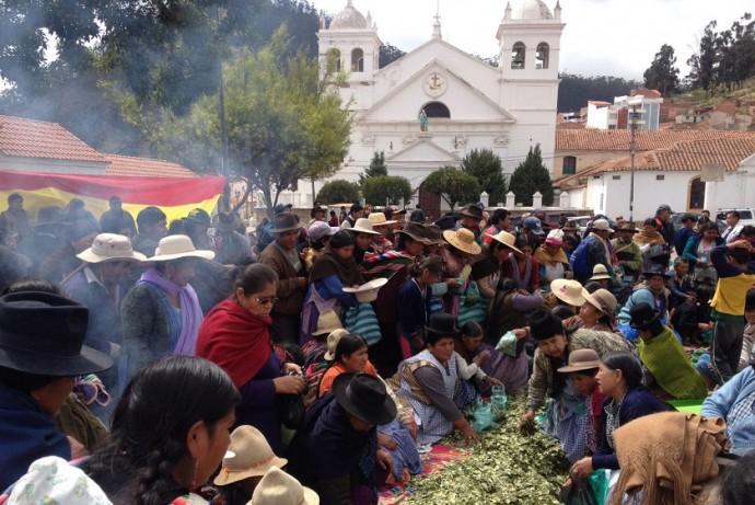 El acto de esta mañana en Sucre. Foto: Richard Mamani