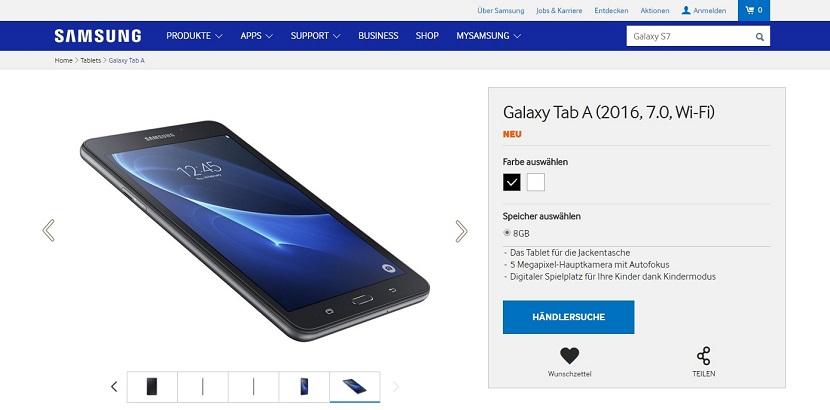 Samsung Galaxy Tab A 2016 Samsung anuncia de forma oficial la Galaxy Tab A (2016)
