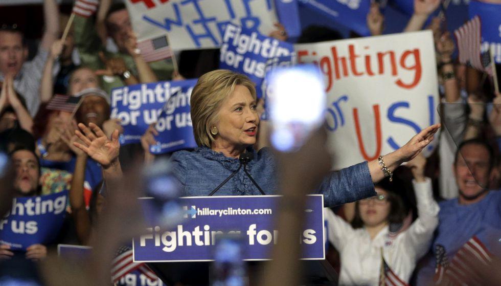 Clinton, este martes, en Florida