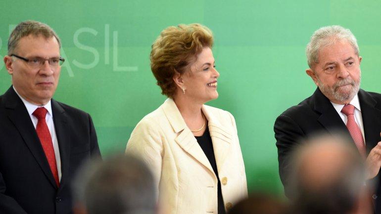 Eugenio Aragao, Dilma Rousseff y Luiz Inacio Lula da Silva