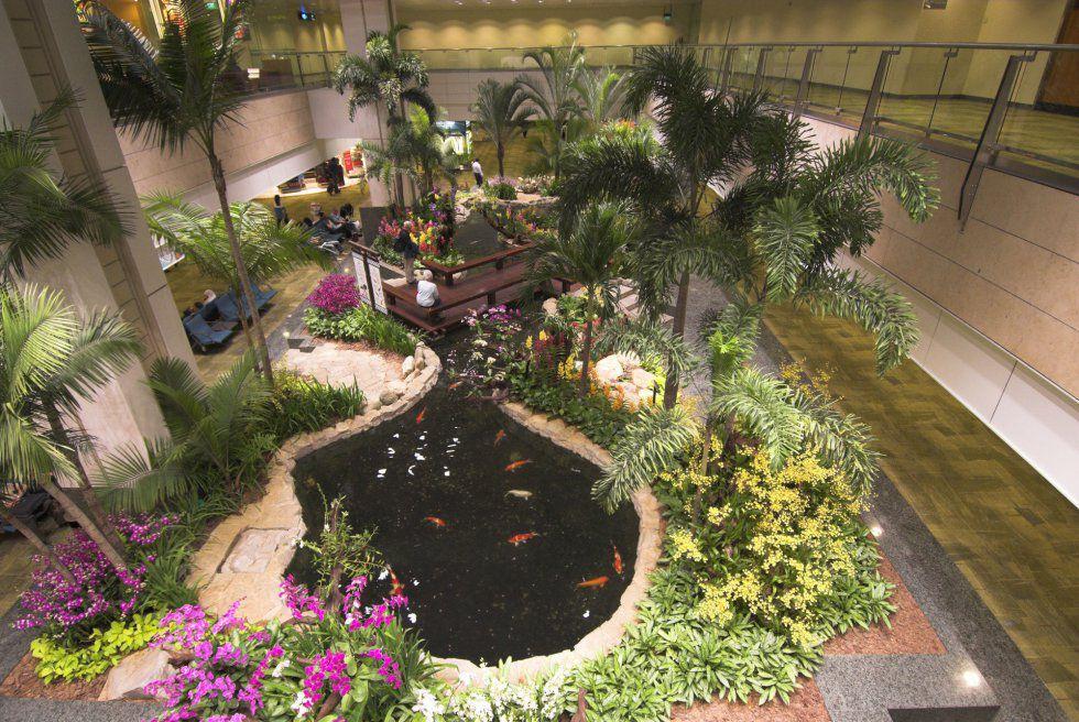 Jardín del aeropuerto Singapore Changi (Singapur)