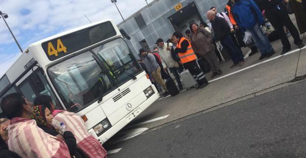 Ivanna posteó fotografías del momento de la evacuación del aeropuerto