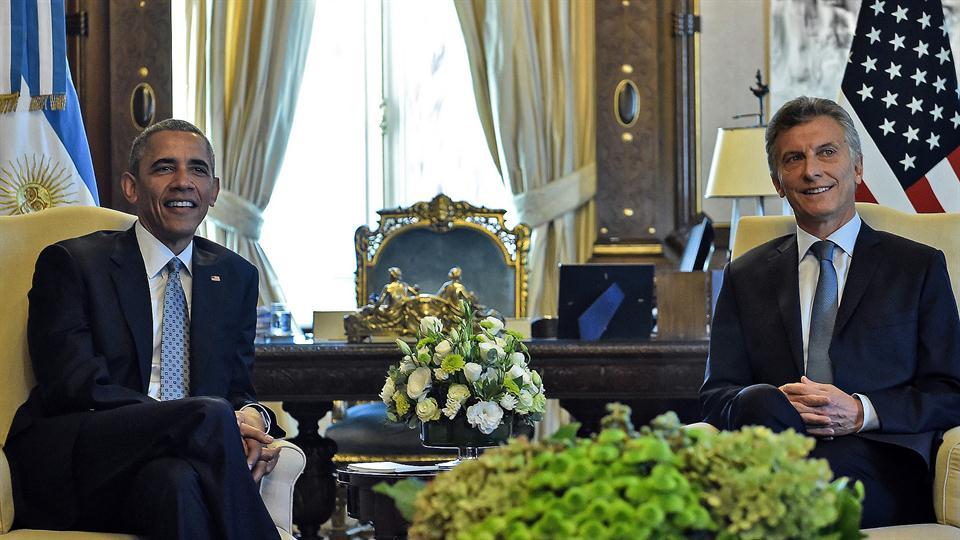 Mauricio Macri Reunido con Barack Obama. Foto: Reuters