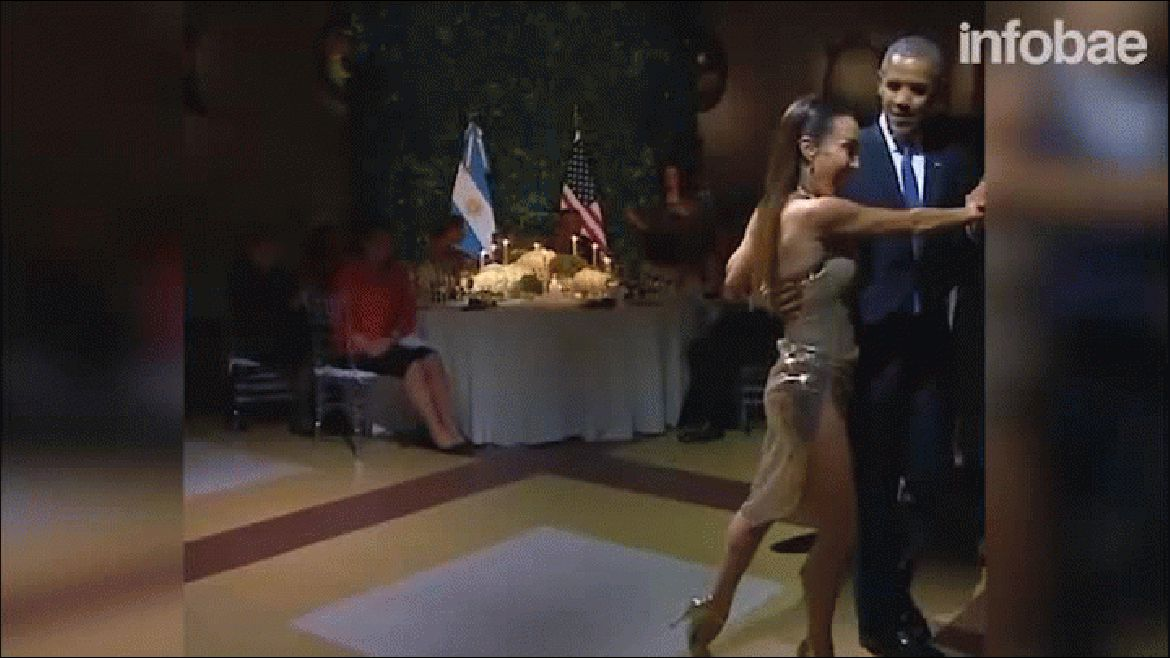 Video: Barack Obama se animó a un paso de tango en Argentina