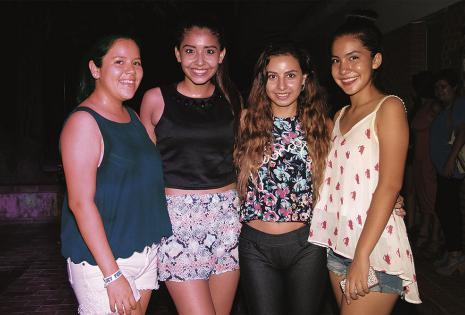 Flavia Gutiérrez,  Cristina Dorado, Sofía Arteaga y Adriana Toledo
