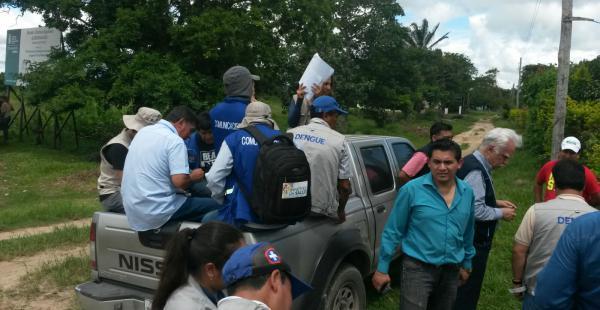 El ministerio de Salud inició este martes una campaña contra el zika en Portachuelo