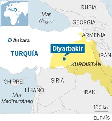 Cuatro policías muertos y 20 heridos en una explosión en Diyarbakir