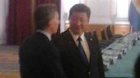 Mauricio Macri, con el presidente de China en Washington