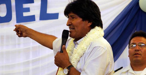 la respuesta  a la moneda el gobierno boliviano decidió pasar  a las medidas  de hecho El presidente Evo Morales hizo el anuncio ayer desde una comunidad de Cochabamba