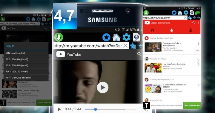 Montaje aplicación QMV Descargar Video