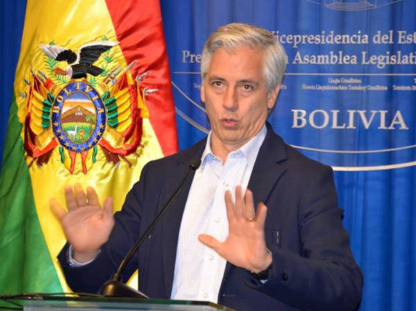 Vicepresidente de Bolivia.