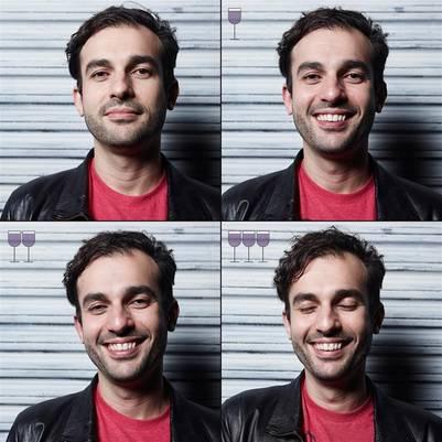 Marcos Albertí realizó un divertido proyecto para ver los efectos del alcohol en el rostro