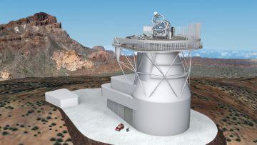 Aspecto que tendrá el Telescopio Solar Europeo.