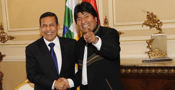Evo Morales y Ollanta Humala, presidentes de Perú y Bolivia, acordaron en diciembre de 2014 el encuentro que se realizará el 23 de junio en Puno