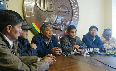 Ejecutivos de la Central Obrera Boliviana (COB)
