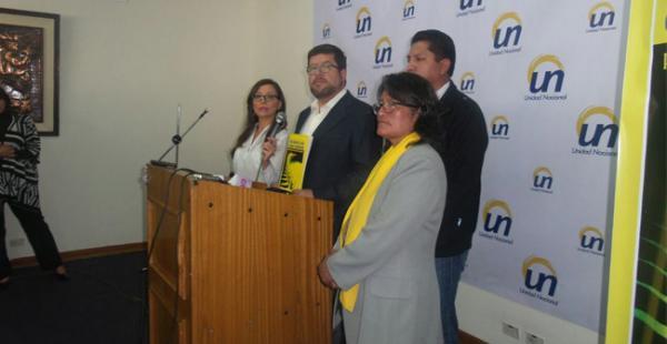 Doria Medina ofreció este lunes una conferencia de prensa en la ciudad de La Paz en la que abordó el tema de la economía nacional