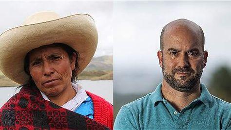 La campesina peruana Máxima Acuña y el científico puertorriqueño Luis Jorge Rivera Herrera