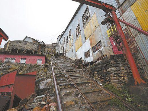 Yacimiento. El ingreso a la mina Caracoles en el municipio de Quime.