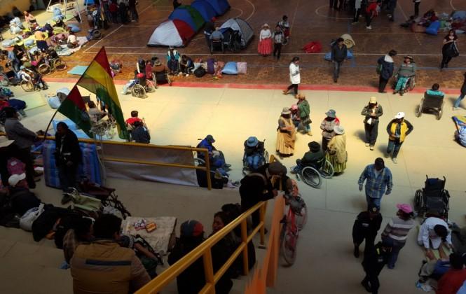 Discapacitados recuperan fuerzas y se preparan para ingresar a La Paz