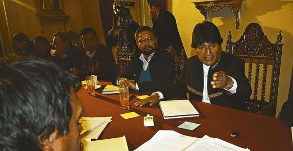 La anterior semana la dirigencia cobista se reunió con el presidente Evo Morales por el tema salarial