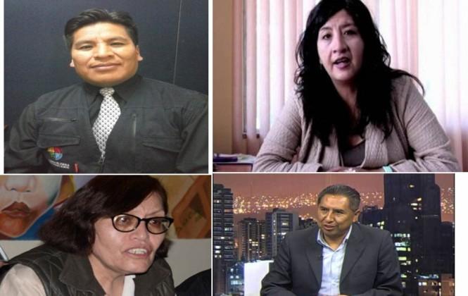 Iquise, Mayta, Bayá y Subita tienen la mejor calificación entre los candidatos a Defensor del Pueblo