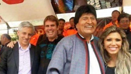Evo Morales junto a Gabriela Zapata