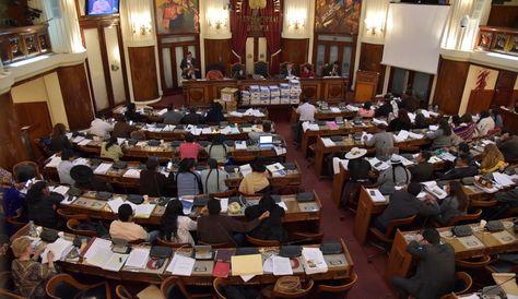 El pleno de la Asamblea Legislativa durante la sesión que aprobó el informe sobre el caso CAMC.