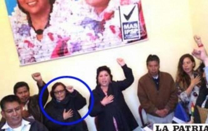 Subieta defiende su puño en alto y dice que ese símbolo no es propiedad de un partido