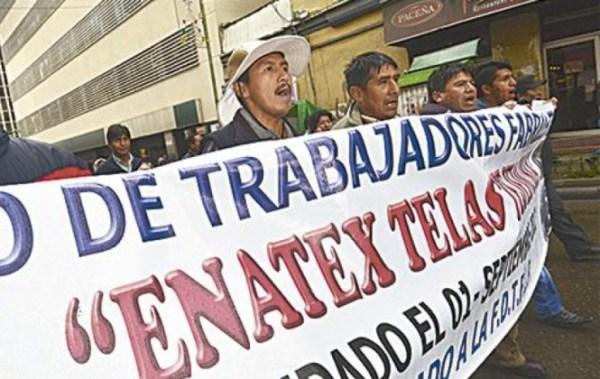 COB amenaza con radicalizar protestas si el Gobierno no abroga el Decreto de cierre de Enatex