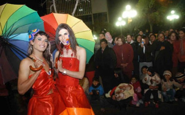 ESPECTÁCULO. Una imagen del desfile del año pasado. - Archivo La Prensa