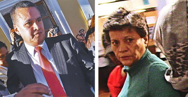 El abogado Eduardo León y Pilar Guzmán, tía de Gabriela Zapata, fueron aprehendidos