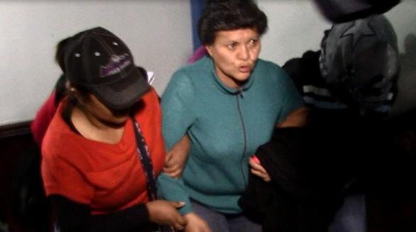 Pilar Guzmán, aprehendida ayer en La Paz. Foto:MARKA REGISTRADA - , Periodista Invitado