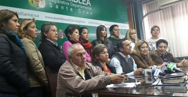 Los asambleístas manifestaron su solidaridad con el gobernador
