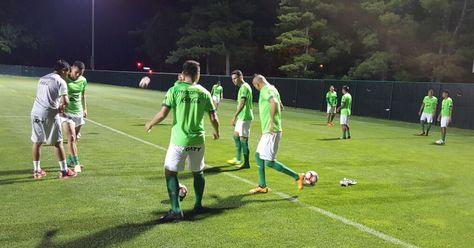 Primer entrenamiento de la selección boliviana en Kansas City.