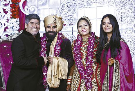 Asistieron al matrimonio de Ezra Elios y Pallavi en Delhi (India)