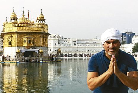 En el Golden Temple, el templo de oro más famoso de Amritsar (India)