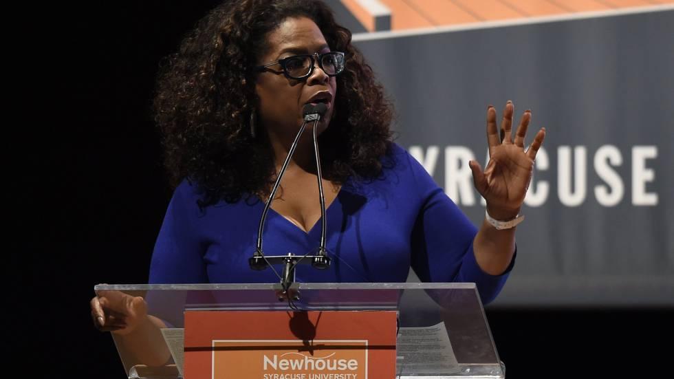 Oprah Winfrey, en el Newhouse School of Public Communications.
