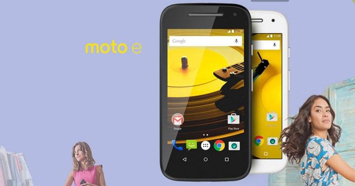 Motorola Moto e blanco y negro