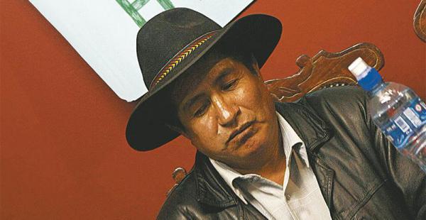 El diputado opositor Rafael Quispe inició ayer la huelga de hambre