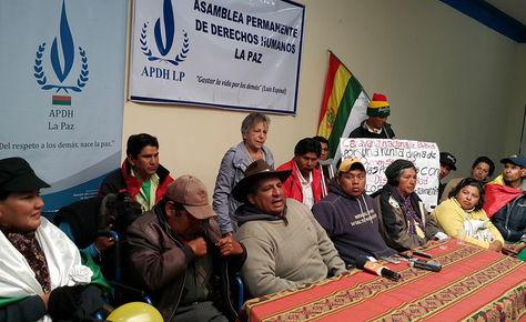 Las personas con discapacidad en la APDH de La Paz. Foto: La Razón