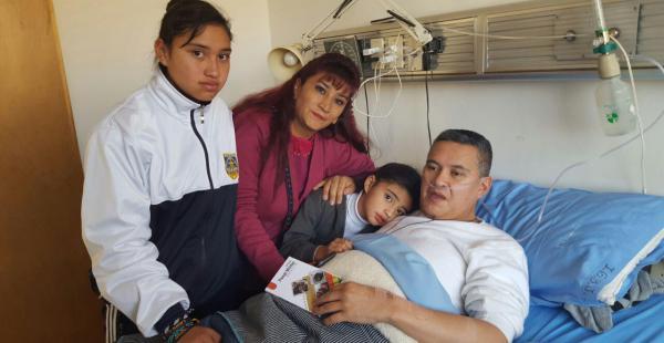León, antes de ser trasladado al penal de San Pedro. Se encuentra internado en el Hospital de Clínicas de La Paz