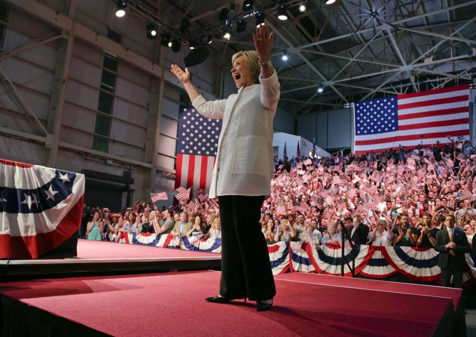 Hillary Clinton, en Nueva York
