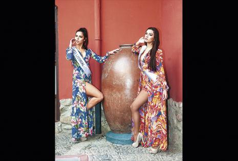 Anita Gamón y Yesenia Barrientos (Miss Litoral y Srta. Scz)