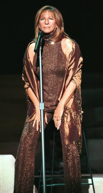 Barbra Streisand en un concierto en Nueva York en el año 2000.