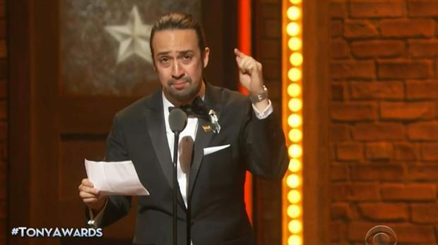 Lin Manuel Miranda y su conmovedor discurso en el homenaje a las víctimas de Orlando, en la entrega de los Premios Tony 2016