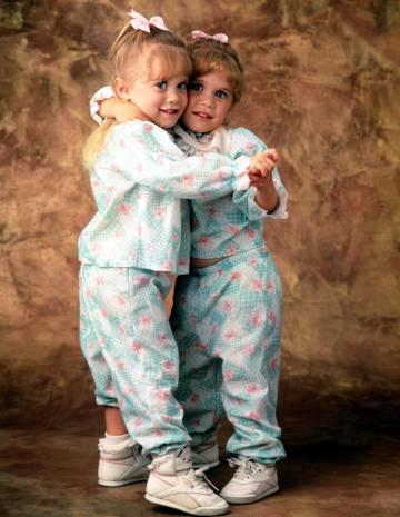 Las hermanas Olsen en 1990.