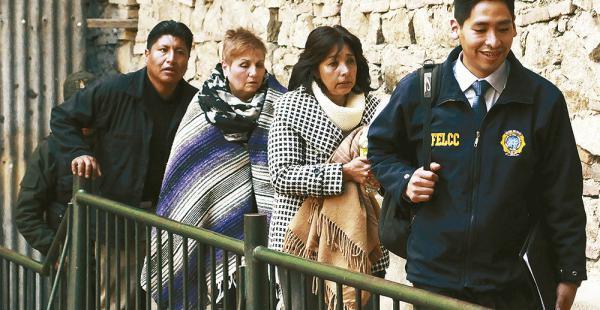 Ximena Fortún fue detenida, acusada de prestar $us 5.000 para los familiares del supuesto hijo de Evo