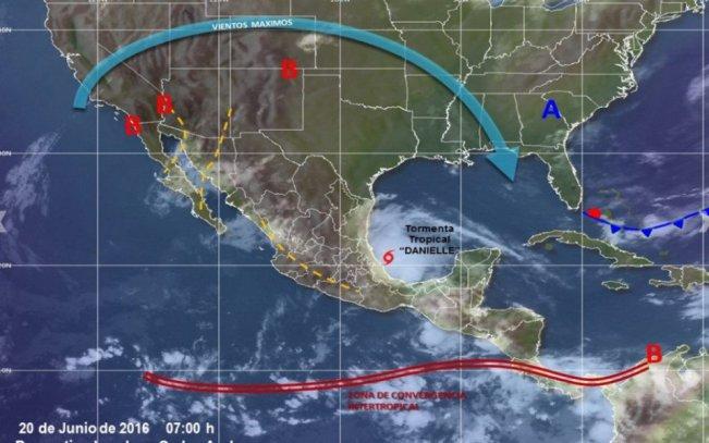 tormenta tropical Danielle