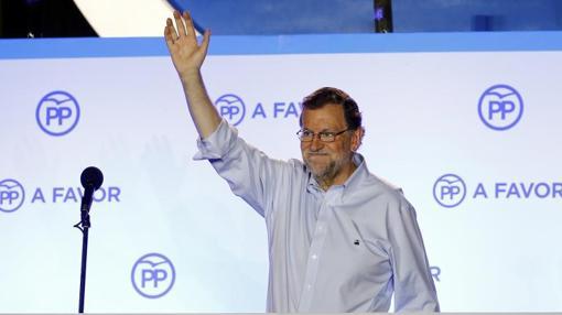 Rajoy celebra su victoria electoral